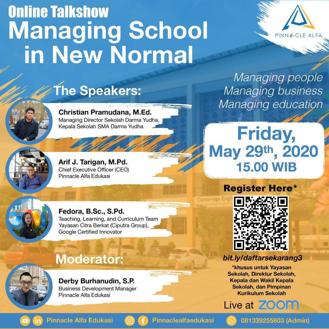 Managing School in New Normal